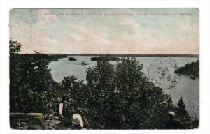 THOUSAND ISLANDS, Ontario, Canada, PU-1909; Among The Thousand Islands, St. L...