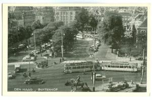 Netherlands, Den Haag, Buitenhof, 1950s unused Postcard