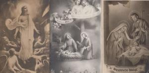 Polish Nativity Vintage 3x Christmas Poland Postcard