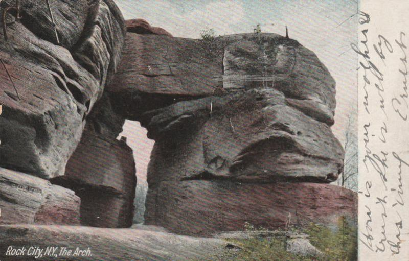 Under the Arch - Rock City Park, Olean NY, New York - pm 1910 - DB