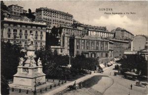 CPA GENOVA Piazza Acquaverde e Via Balbi. ITALY (523573)
