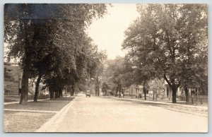 Morris Illinois~East Main Street Homes From Franklin~Wagon~1916 CR Childs RPPC