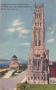 Rockefeller Church (Riverside Church) - New York City - pm 1938 - Linen
