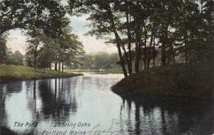 Maine Portland The Pond Deering Oaks 1906