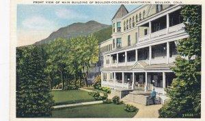 BOULDER Colorado, 1910s ; Mn bldg , Sanitarium