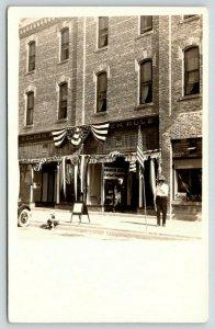 RPPC~American Legion Department Headquarters in Golden Rule Cash Store~c1916 PC