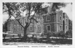 Boulder Colorado University Memorial Building Antique Postcard J51316