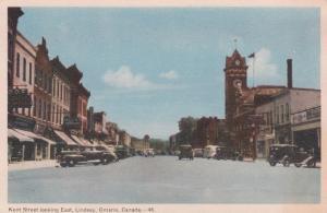 LINDSAY , Ontario , Canada , 1930s ; Kent Street , East