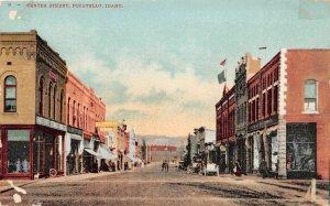H83/ Pocatello Idaho Postcard c1910 Center Street Stores  54