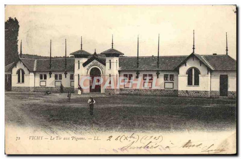 Old Postcard Vichy pigeon shooting