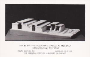 RP; Model of King Solomon´s Stables at Megiddo (Armageddon), Palestine, Univ...