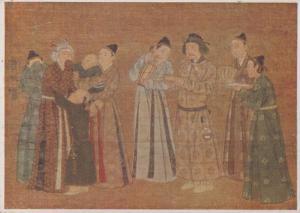 Wen Chi Nomad Camp Chinese London Medici Rare China Painting Postcard