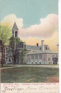 Massachusetts Springfield Hampden County Court House & Hall Of Records