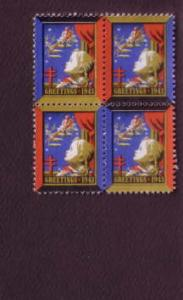 Block of Christmas Seals, 1943