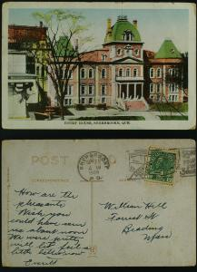 Court House, Sherbrooke Que (slogan)  1928 wear faults