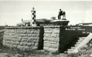 c1940's Airport Billings Montana MT RPPC Photo Antique Postcard