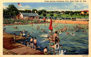 Sioux Falls, South Dakota - The Drake Springs Swimming Pool - in 1950