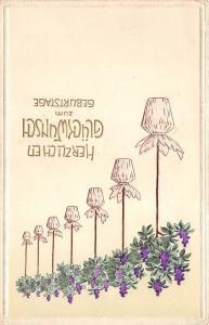 BG8819 flower embossed   geburtstag birthday greetings germany