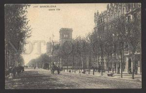 089213 SPAIN Barcelona gran via Vintage PC