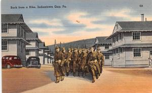 Military Post Card Old Vintage Antique Postcard Back from a Hike, Indiantown ...