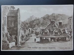 Somerset: Dunster, YARN MARKET & CASTLE c1919