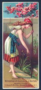 VICTORIAN TRADE CARD Metropolitan Life Insurance