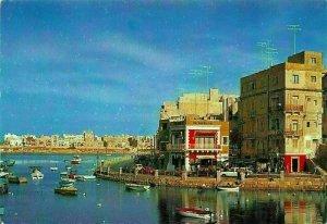 Malta St Julian's Seafront Boats Postcard
