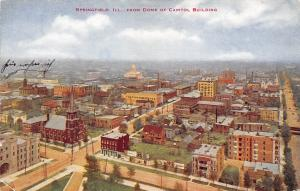 USA Ill. Springfield from Dome of Capitol Building panorama