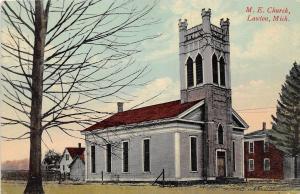 B24/ Lawton Michigan Mi Postcard 1910 M.E. Church Building