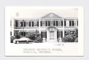 RPPC REAL PHOTO POSTCARD TENNESSEE NASHVILLE GOVERNOR'S MANSION FRONT ENTRANCE