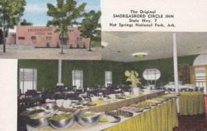HOT SPRINGS NATIONAL PARK, Arkansas, 1930-40s; The Original Smorgasbord Circl...