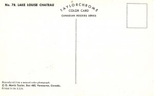 Canada - Alberta, Lake Louise. CPR Chateau      (pinhole)