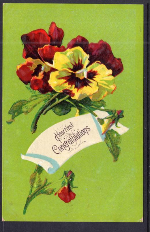Hearty Congratulations Flowers / HipPostcard
