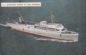 S S Milwaukee Clipper On Lake Michigan