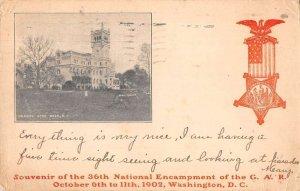 Washington DC Soldiers Home GAR National Encampment Vintage Postcard AA23374