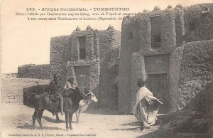uk42014 tomboucton afrique mali  tombouct english exploited house Timbuktu