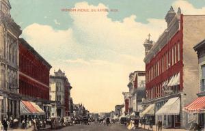 Big Rapids MI~Michigan Avenue~Rosen & Stowe Real Estate~Fetterstadt Dentist~1915