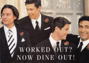 Go To A Restaurant Date Pop Group Il Divo Rare Competition Postcard