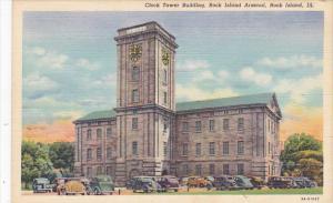 Illinois Rock Island Clock Tower Building Rock Island Arsenal Curteich