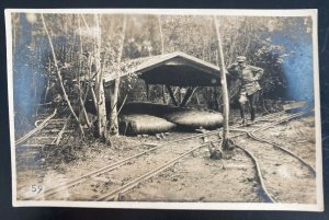 Mint Germany Real Picture Postcard WWI Missile Torpedo