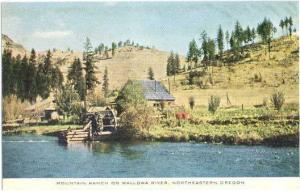 Mountain Ranch on Wallowa River Northeastern Oregon OR