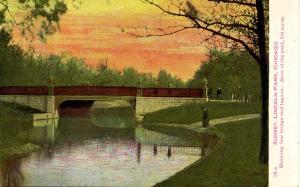 IL - Chicago. Lincoln Park, Low Bridge and Lagoon