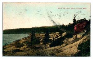 Early 1900s Along the Shore, Harbor Springs, MI Postcard *6E(2)28