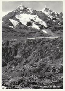 RP; Berninapass Hospiz und Lago Bianco, Piz Palu & piz Bernina, Grisons, Swit...