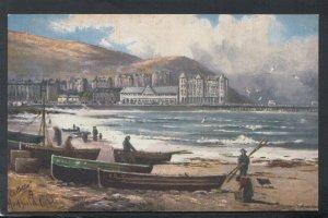 Wales Postcard - A Rough Morning, Llandudno   T9982