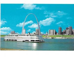 St. Louis Arch Gateway to the West Missouri Admiral excursion steamer.