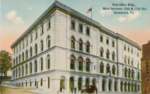 Post Office Building on Main Street - Richmond VA, Virginia - DB