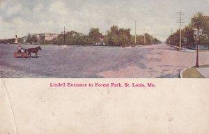 ST. LOUIS, Missouri, PU-1910; Lindell Entrance To Forest Park