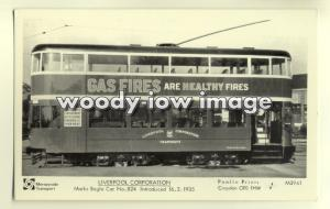 pp1754 - Liverpool Tram no 824 - Pamlin postcard