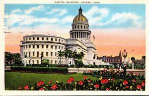 Cuba Havana The Capitol Building 1938